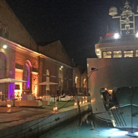 Party d'inaugurazione dello yacht explorer EB100