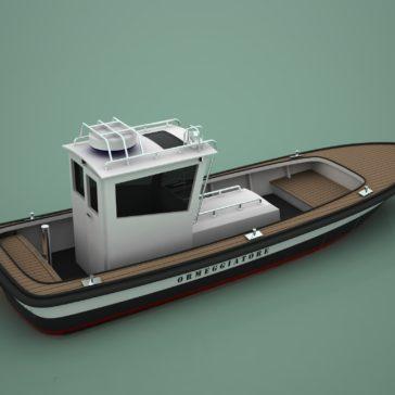 New Mooring Boat in Fiberglass for Venice Port