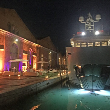 The EB100 inauguration party took place in Tese spaces at Arsenale of Venice.